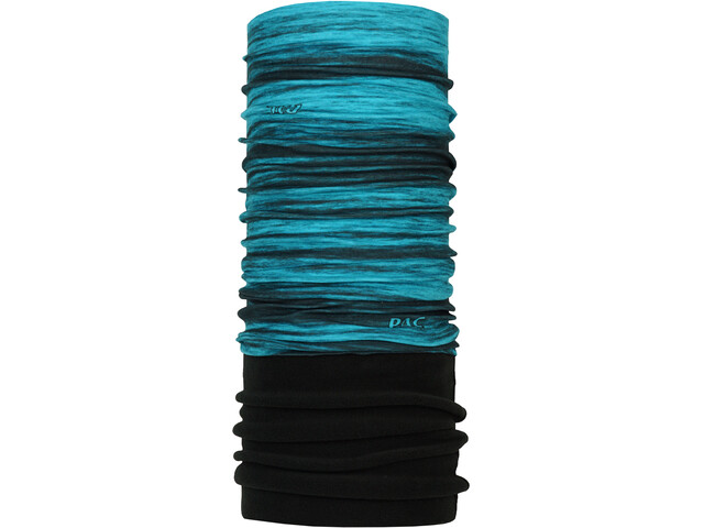 P.A.C. Fleece Loop Sjaal, zwart/turquoise